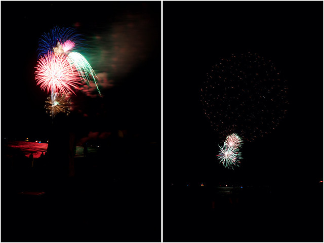 July 4th fireworks diptych 1