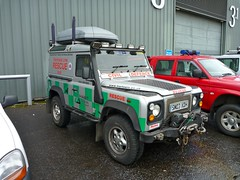 Land Rover Defender 90 TD5 (barronr) Tags: out scotland glasgow more about secc find services a scotlanda emergencyscotland2011 hartservicesscotland hrefhttpwwwhartservcoukhart