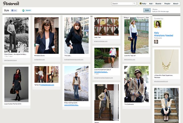 Developing Personal Style – Collecting Inspirations