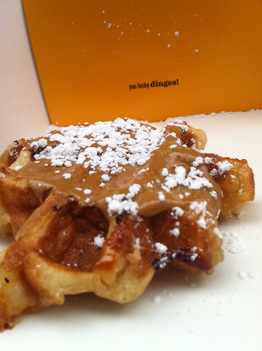 Liege wafel with spekuloos spread from Wafels & Dinges