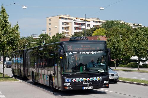 Gleich ist die Runde geschafft: Nach dem Halt am Olympia-Einkaufszentrum geht's zur Dessauer Straße.