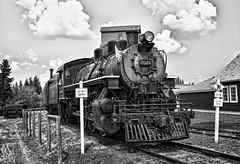 The Time Machine (Matthew P Sharp) Tags: blackandwhite canada calgary train alberta hdr heritagepark