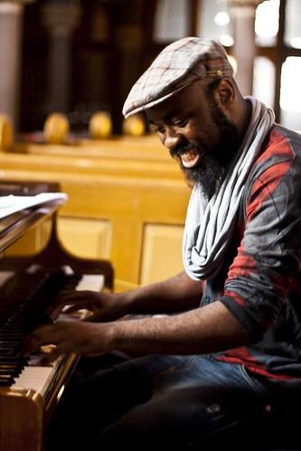 Nduduzo Henry Makhathini during rehearsals