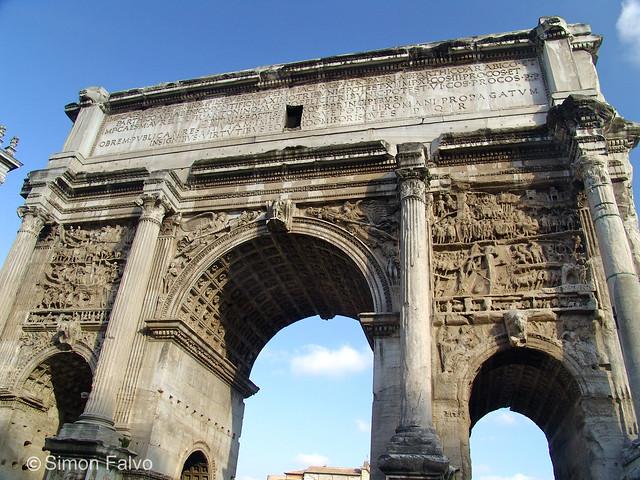 Ancient Roman Architecture Arch Rome Arch Of Septimius