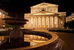 Moscow. Bolshoi Theatre (Big Theatre). (Yuri Degtyarev) Tags: ex night big theatre moscow sony tripod sigma yuri 300 alpha 1224 bolshoi  slik a300 bolshoy  cokin  degtyarev  12244556 gnd8 p121s dslra300 alpha300 psystem