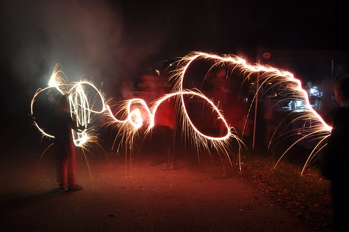 Sparklers and a Slow Shutter Speed