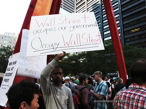 NYC Occupy Wall Street Rally Oct 8 2011 occupy sign