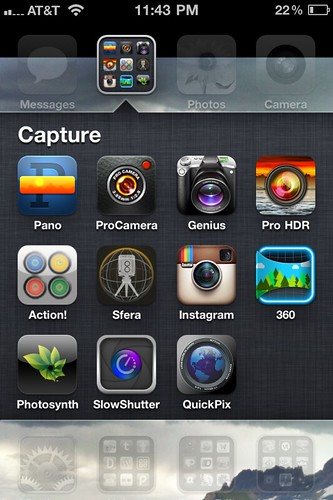 Photo Capture / iPhoneography Apps  (Oct 2011)