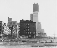 WTC Construction 1971 (Lenny Campello) Tags: nyc newyork canada france boston portraits vintage french photography scotland dancers dancing quebec tennessee artists mingus vintagephotos lifetime gaspepeninsula exxonbuilding scottishartists lidamoser newyorkphotoschool