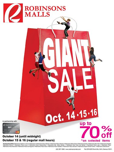 Robinsons Malls October GIANT Sale 2011