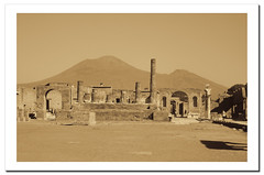 Pompeii under the volcano.- (ancama_99(toni)) Tags: pictures old city trip travel vacation italy art history nature yellow sepia architecture photoshop geotagged photography gold volcano photo arquitectura ancient ruins europa europe italia cityscape campania foto photos antique sony picture cityscapes photographic ciudades ruinas fotos pompeii architektur fotografia pompeya pompei citys fotografas volcn 2011 holidaysvacanzeurlaub ancama99 dscw380
