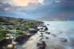 The Beauty of Yitty (Beauty Eye) Tags: longexposure sunset sea seascape black beach clouds canon iso100 waterfall rocks filter f80 grad tamron oman snails muscat 30seconds 1024   blendedexposures 600d  yiti  seawaves yitti f110 f160  yitty