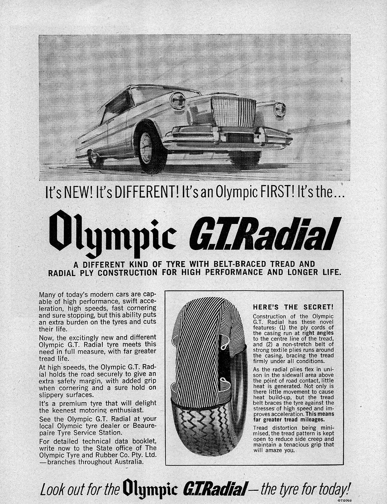 1965 Olympic GT Radial tyres ad