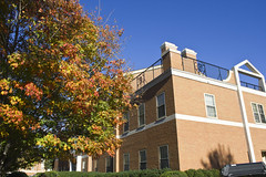 Olin Physical Laboratory; Wake Forest (Usually Melancholy) Tags: autumn fallcolors 5685 efs1855mmf3556is treetreesleavesleafcolorchanging
