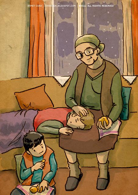 grandma & mandarin
