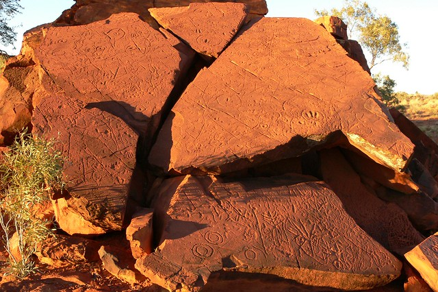 Ewaninga Aboriginal Rock Carvings - Northern Territory, Australian Outback