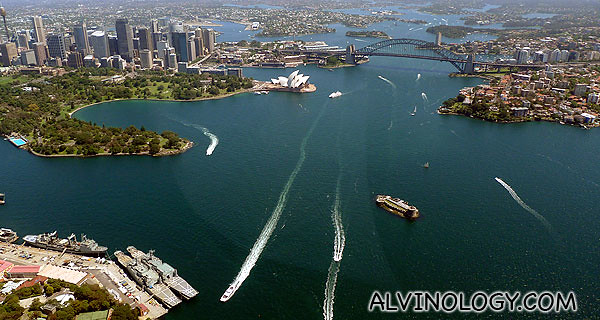 One of my favourite Sydney helicopter view shots