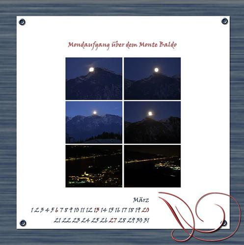 """Kalenderblatt """"Mondaufgang"""""""