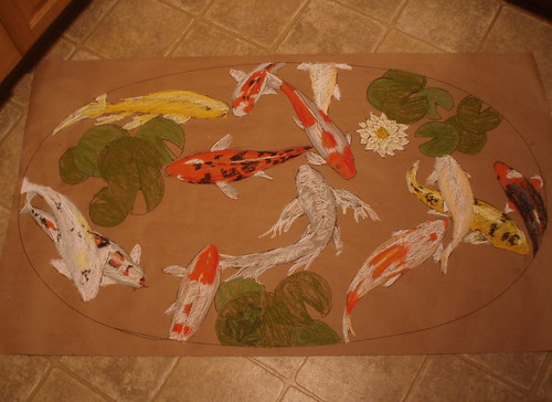 fish pond table