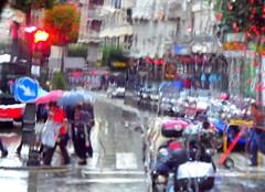 thru the window of the bus (dmixo6) Tags: colour rain spain dugg dmixo6