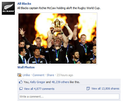 All Blacks post
