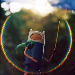 . (willycoolpics.) Tags: light film toy dof bokeh lensflare figure flare finn picnik circular squarecropped adventuretime obessessedwithtoyshots