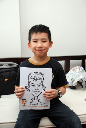 Caricature live sketching for Jonah's birthday party - 13