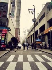 """Reservoir Dogs,"" 1992 🇰🇷 (anokarina) Tags: seoul canonpowershotsd3500is bucheon kyeongkido street urban city southkorea sk 대한민국 서울특별시 bucheonsi 부천시 gyeonggido perspective buildings architecture design filtered crosswalk"