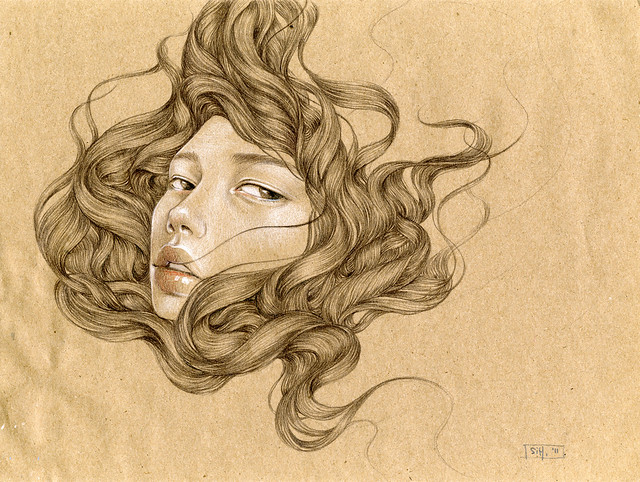 "Untitled 2. 12"" x 9"". Graphite & Colored Pencil on Paper. © 2011."
