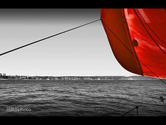 Red spi (JBnauta) Tags: sea seascape mar spinaker melilla pwm asimetrico musictomyeyeslevel1