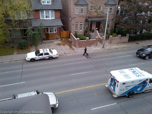 Police Officer leaving