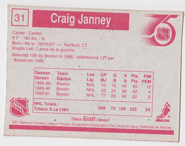 Kraft Dinner - Craig Janney - Back