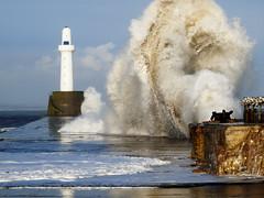 woomph (davidnofish) Tags: uk lighthouse storm coast scotland pier big sand harbour wave aberdeen breaker breakwater flickrchallengegroup flickrchallengewinner wtmwchallengewinner