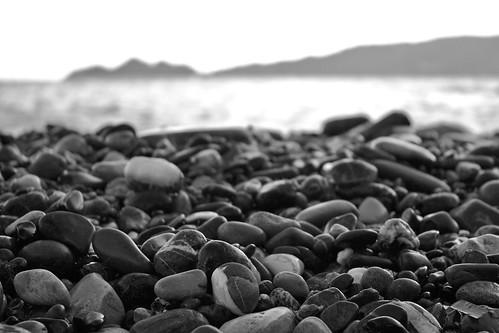 Spiaggia sassosa a Zoagli