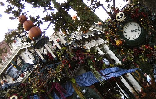 Haunted Mansion decorated