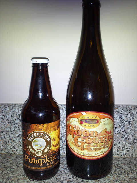 Rivertown Pumpkin and Cigar City Good Gourd
