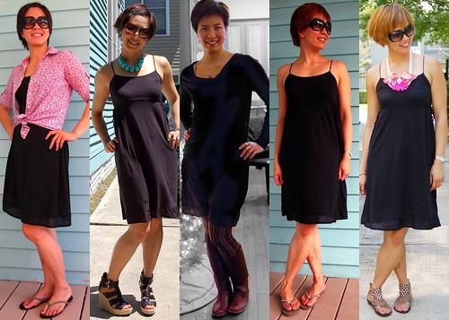 black knit dress 01