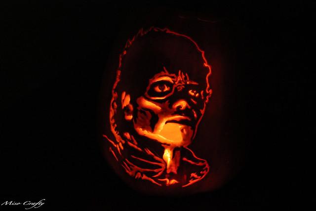 Halloween 2011 - Zombie Michael Pumpkin