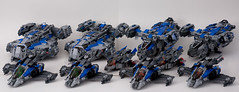 TEAM BLUE (Si-MOCs) Tags: blue red lego vs