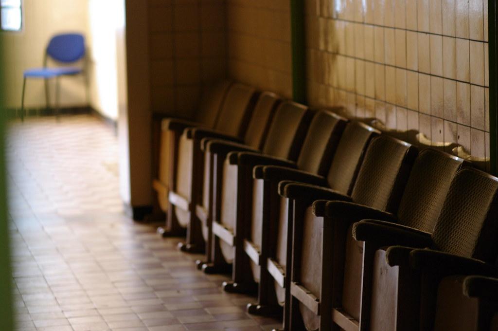 row of seats in hallway, Theater De Regentes