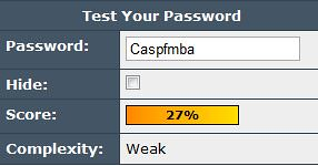 Choosing a strong password