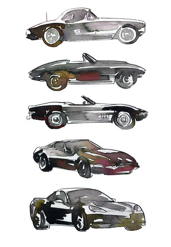 Corvette evolution_ daily drawing