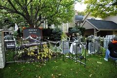 Front yard Grave yard