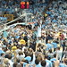 Harrison Barnes cutting down the net after defeating Duke 2011