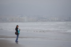 La Serena beach (Dbennison) Tags: ocean chile trip travel november cold beach wet water america fun la pentax south adventure backpacking rainy da serena sa k5 laserena 2011 1650m