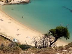 Sandy cove (Marite2007) Tags: tree beach island scenery mediterranean cove shoreline aegean greece setting idyllic overview donoussa kendros paradisiacal smallcyclades