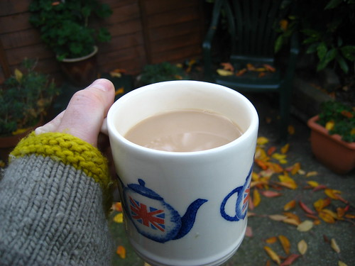 Cup of tea in the garden