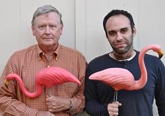 Two Guys with Pink Flamingos (ricko) Tags: deleteme5 deleteme8 portrait deleteme deleteme2 deleteme3 deleteme4 deleteme6 deleteme9 deleteme7 me saveme4 saveme5 saveme6 saveme saveme2 saveme3 saveme7 deleteme10 saveme8 pinkflamingos flickrfriend panayotis