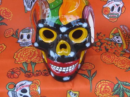 Dia de Los Muertos Ceramic Skull