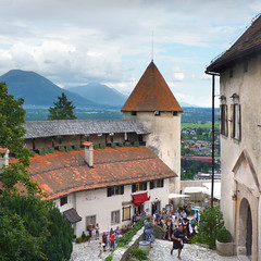 A romantic wedding at Bled Castle (Bn) Tags: bled castle slovenia alps lake romantic feet water idyllic island pletna mountain slopes hiking relaxing glacial two girls women alpine picturesque tourist medieval kasteel ducks swim romance summer holiday geotagged blue barna blejski travel veldes attraction beauty overwhelming grad geo:lon=14100842 geo:lat=46369889 wedding marriage 50favs topf50 cloudy day